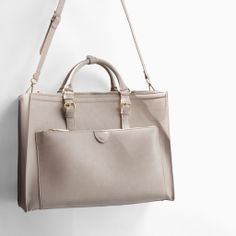 ZARA - WOMAN - OFFICE CITYBAG WITH ZIPS