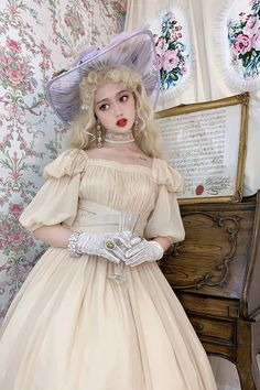 Lost Angel -Afuluoditei- Long Version Lolita OP Dress Romantic Outfit, Romantic Clothing, Gothic Corset Dresses, Real Costumes, Lolita Fashion, Women's Fashion, One Piece Dress, Lolita Dress, Dress First