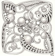 Mooka. Zentangle made by Francine Derks CZT 17.