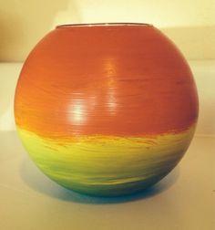 Rainbow Bowl Vase  by RMbowers on Etsy