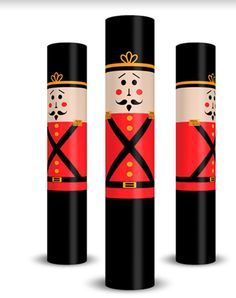 Christmas Nutcracker Column Wraps...The coolest new decoration this year! Easy to put up (no tools required).