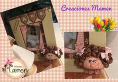 Marco de fotos decorado con gomaeva  #CreacionesMamen