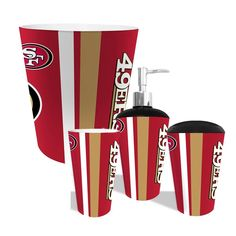 San Francisco 49ers NFL Complete Bathroom Accessories 4pc Set