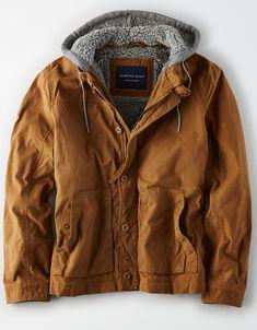 ac469aa80b1 AE Canvas Fleece Hood Jacket