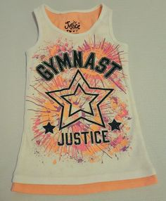 Justice Girls Glittery Gymnast Tank Top Size 7 #503 in Clothing, Shoes & Accessories, Kids' Clothing, Shoes & Accs, Girls' Clothing (Sizes 4 & Up)   eBay, Back to school shopping, Christmas Shopping