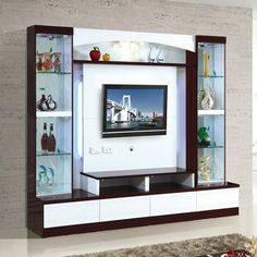 Living Room Tv Unit Designs, Wall Unit Designs, Living Room Wall Units, Interior Design Living Room, Modern Tv Room, Modern Tv Wall Units, Tv Unit Decor, Tv Wall Decor, Tv Cabinet Design