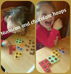 Numicon and Chocolate hoops Maths Eyfs, Eyfs Activities, Learning Activities, Numeracy, Math For Kids, Fun Math, Math Games, Early Years Maths, Early Math