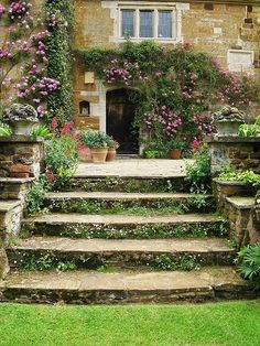 Give me some stone steps and flowers I'll follow you anywhere!