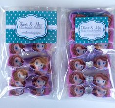 5 Sofia the First Pink Lilac Hearts Hairbow by OliverandMay, $8.99
