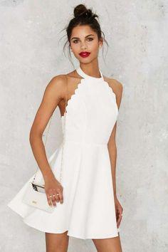 Full Scallop Attack Flare Dress