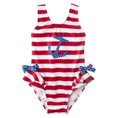 Baby and Little Girls: Circo Anchor Swimsuit ($10, originally $12): A sweet tank suit features feminine ruffles at the hips and an anchor appliqué.