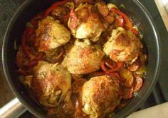 Baszk csirke recept foto