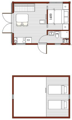 – Back Yard House/small house for permanent residence. Permit free in Sweden (Attefall). Small Tiny House, Tiny House Plans, Tiny House Design, House Floor Plans, Bungalows, Backyard Guest Houses, Tyni House, Swedish Cottage, A Frame House