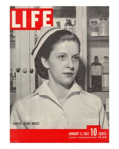 Wanted: 50,000 Nurses, Alberta Rose Krajce, Brooklyn Naval Hospital Nurse Shortage, January 5, 1942 Lámina fotográfica de primera calidad