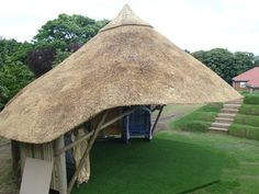 Outdoor Classroom for teaching outdoors - move your teaching outside Thatched Lapa Thatched House, Thatched Roof, Small Gazebo, Vernacular Architecture, Outdoor Classroom, Garden Buildings, Forest School, New Forest, Outdoor Projects
