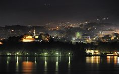 Ioaanina by night with fog