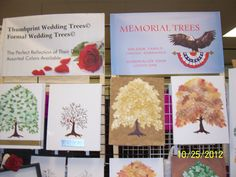 we also do thumbprint trees and memorial trees.  familytreeyourway.com