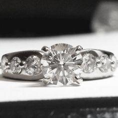 Round Cut Diamond engagement ring Round Cut Diamond Rings, Round Diamond Engagement Rings, Round Diamonds, Wedding Engagement, Wedding Rings, Dream Wedding, Wedding Dress, Harry Winston, Best Day Ever