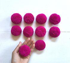 Excited to share the latest addition to my #etsy shop: Magenta Big Pom Pom 2 inches, Boho Decor Party Supplies yarn pom pom http://etsy.me/2Bbgob0 #supplies #purple #hatmakinghaircrafts #pink #pompom #hmongpompom #hmonghandmade #hilltribepompom #pompoms