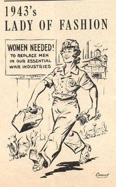 1943's lady of fashion