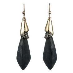 Alexis Bittar Durban Gold & Gunmetal Bullet Earring Black ($78) ❤ liked on Polyvore featuring jewelry, earrings, accessories, brincos, black, black jewelry, gold earring set, earrings jewelry, yellow gold earrings and gunmetal jewelry