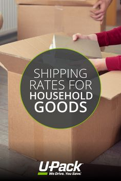 Shipping rates for household goods (detailed info and moving estimates) Moving Estimate, Moving Costs, Packing To Move, Household, Company Logo, Ship, Ships