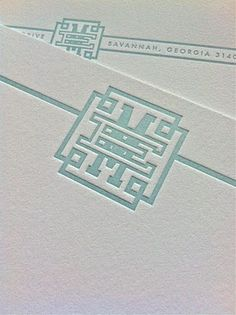 My personalized stationery in seaglass blue letterpress on @CraneandCo 220lb Lettre
