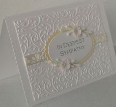 Paper Daisy: sympathy card  (this style is suitable for wedding also)
