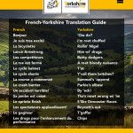 Le Tour Yorkshire: Translating French into Yorkshire English For the Tour de France in Yorkshire - Are You Watching?