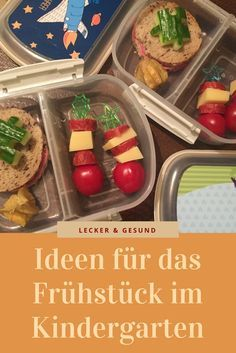 Ideas for breakfast in kindergarten and the lunch box (bento box) with fruit, vegetables and bread: www. Lunch Box Bento, Lunch Snacks, Kindergarten Snacks, Baby Food Recipes, Healthy Recipes, Baby Snacks, Food Humor, Cooking With Kids, Kids Meals