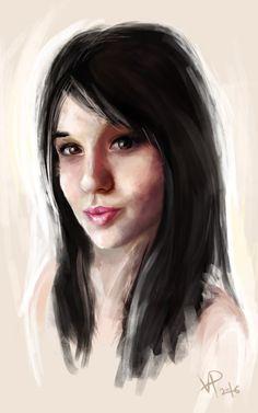 digital art  short portrait   My friend Zhenya