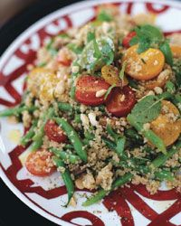 Summer Bulgur and Green Bean Salad | This lovely side dish of light, fluffy bulgur studded with bits of toasted almonds and crisp green beans is a wonderful alternative to rice.