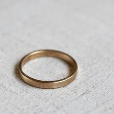 14k solid gold simple wedding band woman's simple thin wedding ring - Praxis Jewelry