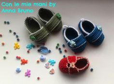 Con le mie mani by Anna Bruno: Scarpine crochet baby