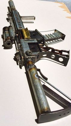 scrap metal ASSAULT RIFLE sculpture ar15 m4 by devincahow on Etsy