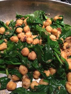 Sauteed-Spinach-With-Garbanzo-Beans
