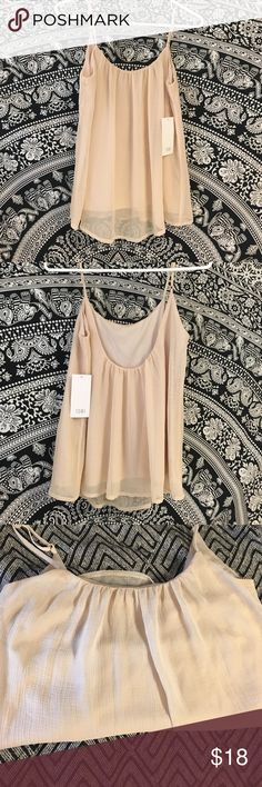 Very Pretty Nude colored Tank Top Never worn, new with tags tanks Top Tobi Tops Tank Tops