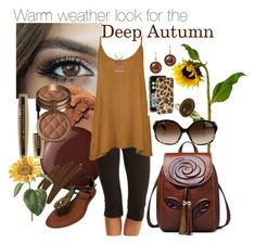 Deep Autumn by prettyyourworld on Polyvore featuring WearAll, Tasc Performance, Roberto Coin, Ice, Dorothy Perkins, Oliver Peoples, Tory Burch, Vincent Longo, L'Oréal Paris and Essie