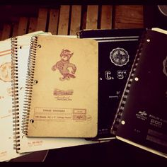 Old 1967 nc state college notebookes