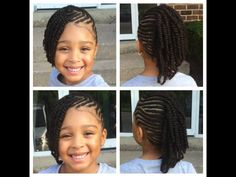 Protective kids style Lil Girl Hairstyles, Natural Hairstyles For Kids, Kids Braided Hairstyles, Princess Hairstyles, Natural Hair Styles, Long Hair Styles, Asymmetrical Hairstyles, Shag Hairstyles, Fancy Hairstyles