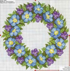 Floral wreath chart