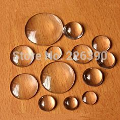 6 8 10 12 14 16 18 20 25 30 40mm Flatback Clear Round Glass Cabochon Glass Dome Beads Jewelry Pendant Necklace Findings Y216