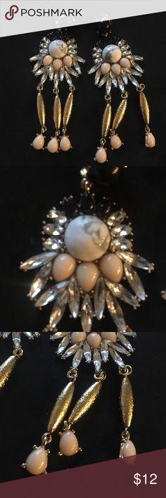 Gold statement earrings Gold statement earrings , brand new never worn. Charming Charlie Jewelry Earrings