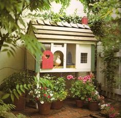 chicken coop.  @Shannon Wartchow  - here's one for you unless you already saw this.  Cute!