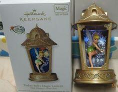 hallmark tinkerbell ornament | HALLMARK ORNAMENT TINKER BELL'S MAGIC LANTERN WALT DISNEY'S PETER PAN ...