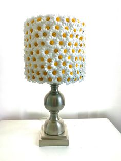 Excited to share this item from my shop: Daisy Lamp Shade Cutest Thing Ever, Lamp Shades, Rosettes, Primary Colors, Daisy, Table Lamp, Etsy Shop, Lighting, Beautiful