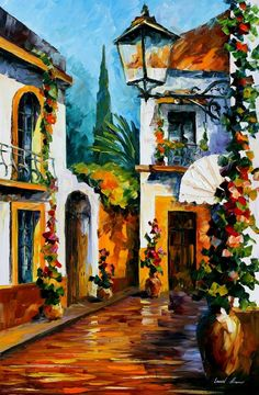 """""""The sun of July"""" by Leonid Afremov ___________________________ Click on the image to buy this painting ___________________________ #art #painting #afremov #wallart #walldecor #fineart #beautiful #homedecor #design"""