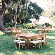 Ooh! Events Rentals Square Farm Table | Creative wedding planning and event rentals in Charleston, SC and Beaufort, Bluffton, Savannah, Debo...