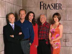 Kelsey Grammer (Frasier Crane),  David Hyde Pierce (Niles Crane),  John Mahoney (Martin Crane), Peri Gilpin (Roz Doyle) & Jane Leeves (Daphne Moon) - Frasier