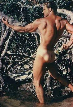 Vintage erected old male nudes